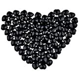 mookaitedecor Healing Crystals Black Obsidian 0.5 inches Heart Love Worry Palm Stone Reiki Balancing,Pack of 12