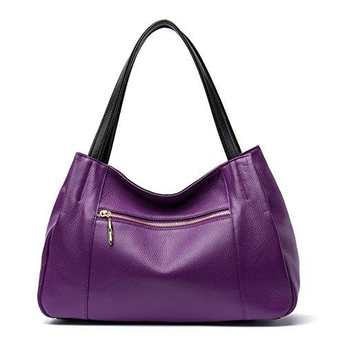 violet taropurple bandoulière à Véritable cabas Sac Femme CLUCI Sac main Sacs porté Sac épaule 6 Cuir Cartable 6wxAqxOUa