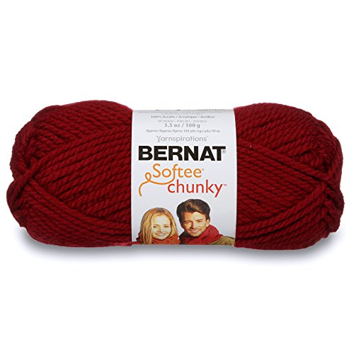 - Bernat Softee Chunky Yarn, 3.5 Oz, Gauge 6 Super Bulky, Wine
