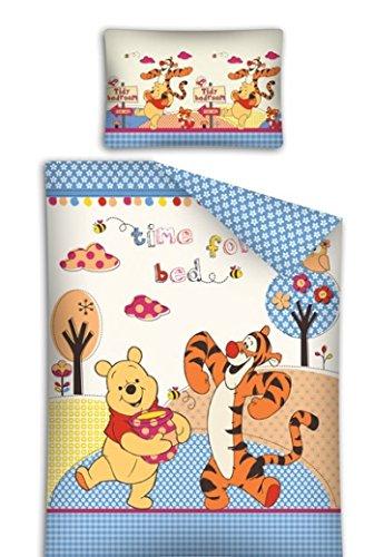 Copripiumino Winnie The Pooh.Disney Winnie The Pooh E Tigro Set Letto Lettino Baby 100 Cotone Copripiumino Federa