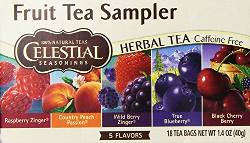 Celestial Seasonings Black Caffeine Free Tea (Celestial Seasoning Fruit Tea Sampler 18 bags (Two Boxes))