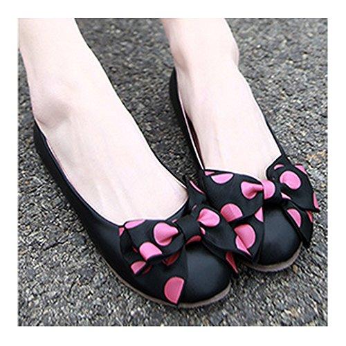 de Estudiantes Moda Negro boca 2017 Zapatos Los inclinan OCHENTA flores baja Planos Nuevo se 0q6Wzf