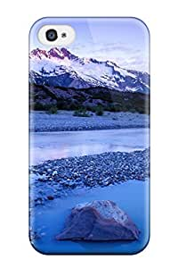 Fashionable Style Case Cover Skin For Iphone 4/4s- Mountain Lumber River Much Blue Light Nature Other