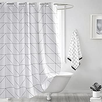 Amazon.com: Shower Curtain Extra Long 72 x 78 inch, Welwo X-Long ...