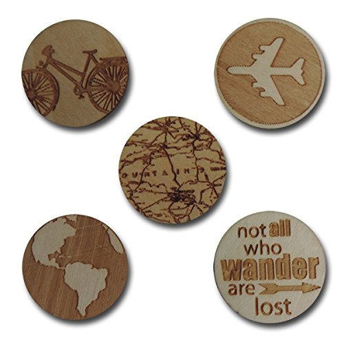 Maya Road WD3017 Wood Travel Tokens, 10-Pack
