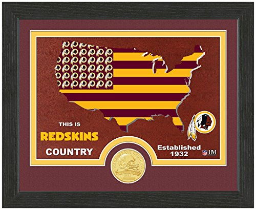 NFL Washington Redskins Country Bronze Coin Photo Mint, 18