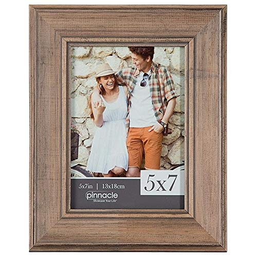 - Brown Pecan Slant Distressed 5x7 Wood Frame by Pinnacle - 5x7