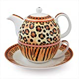 Halcyon Days Enamels Animal Print Tea For One Teapot