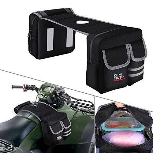 kemimoto ATV GasTank Bag Tank Top Saddle Bag 1680D Waterproof Storage Bag with Thermal Cooler Bag for Motorcycle Snowmobiles Yamaha Harley Honda Kawasaki Suzuki