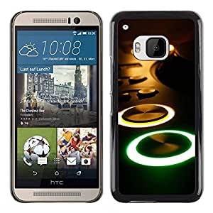 Slim Design Hard PC/Aluminum Shell Case Cover for HTC One M9 Glowing Buttons Console / JUSTGO PHONE PROTECTOR