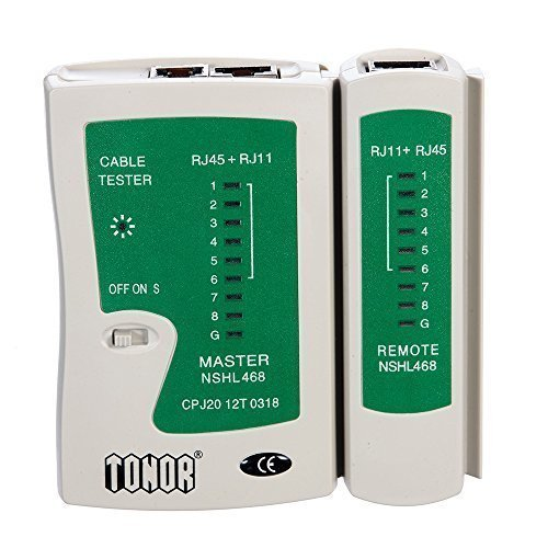 Tonor TM RJ45 RJ11 RJ12 CAT5 CAT 6 UTP Network Lan Cable Tester Test (Rj 45 Utp Cat)