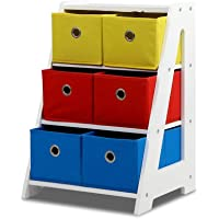 Artiss Toy Box Rack Kids Storage Bins Multi-Colour