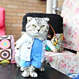 BlueSpace Pet Costume Doctor Clothes Dog Cat Pets Suit Halloween Costumes Pets Clothing for Small Dogs and Cats, Perfect for Halloween Christmas and Theme Party, L