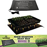 "Lumanux Seed Propagating heat mat for Seedling, Cloning, & Germination - Heating Mat - 10""x20.75"""