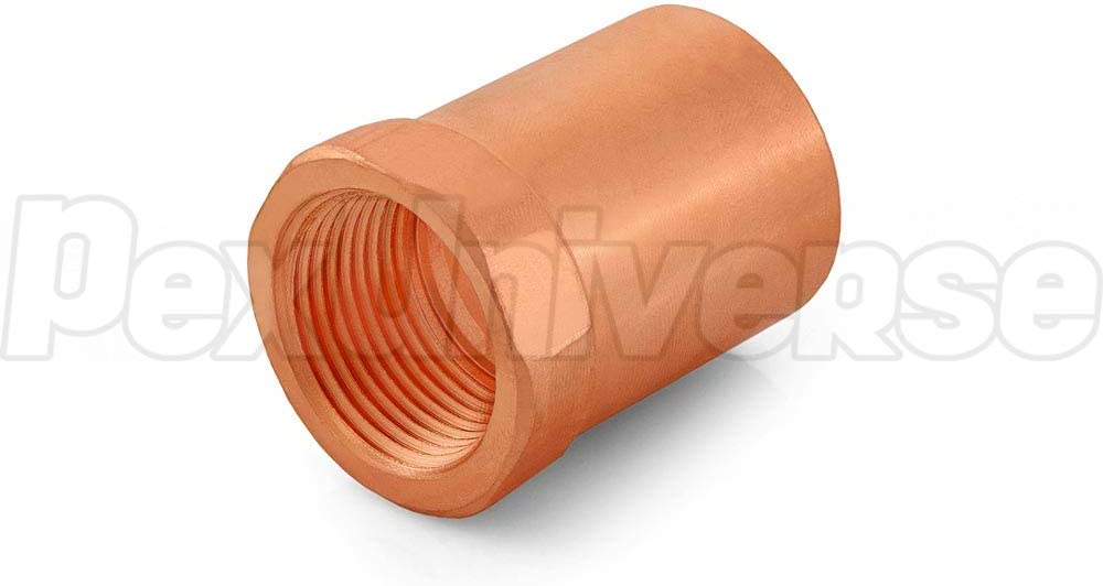 Pack of 10 1 Copper x 3//4 Female Threaded Adapter