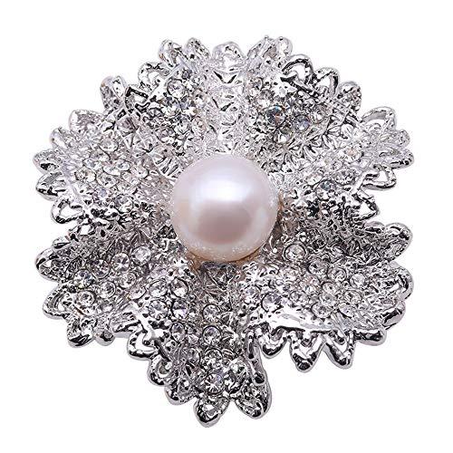 - JYX Pearl Fine Floral Brooch Freshwater Pearl Brooch Women Wedding