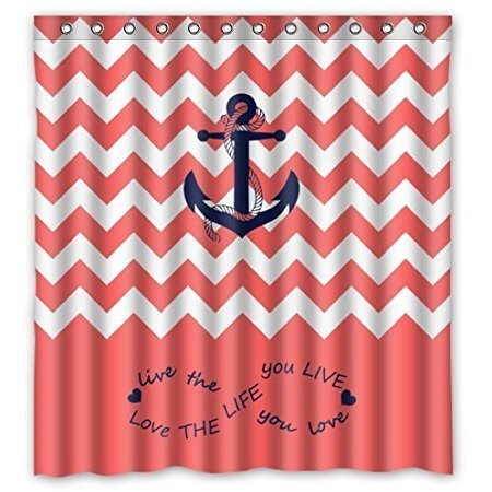 Shower Curtain With Boat Anchor