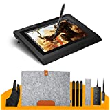GOWE 10.1 IPS Graphic Monitor Kit For Design+ Battery-free Pen +Wool Liner Bag+Two-Finger Glove+ Stylus Sleeve