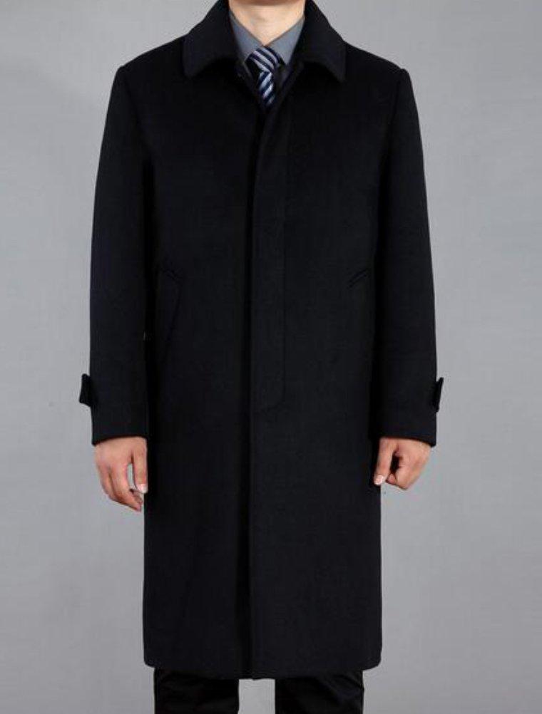 Lavnis Men's Woolen Trench Coat Long Slim Fit Business Outfit Jacket Overcoat 2XL by Lavnis (Image #2)