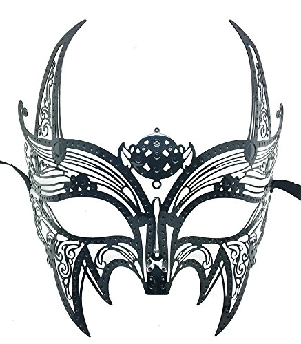 New Wolverine Men's Mask Laser Cut Venetian Halloween Masquerade Mask Costume Extravagant Inspire Design - Black