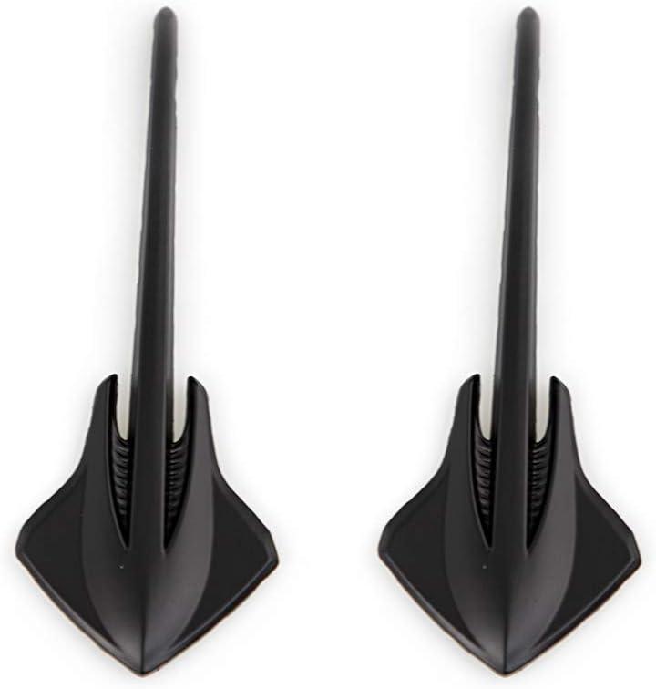 Black CARRUN 2Pc 3D Stingray Shark Emblems Finish Decal Fender Emblem Decals Stickers Replacement For Corvette