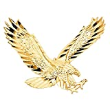 14k Yellow Gold Eagle Pendant