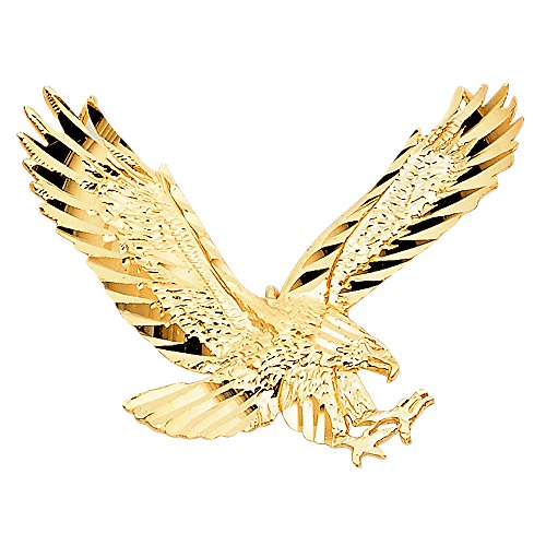 14k Yellow Gold Eagle Pendant (Gold Eagle Eagle)