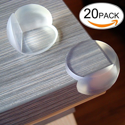 TBeloved 20 Pack Clear Corner Guards | Full Coverage Glue Corners Protectors | Best Baby Proof Corner Cushion | Stop Child Injuries From Tables, Furniture & Sharp - The Do What Glasses On Three Numbers Mean