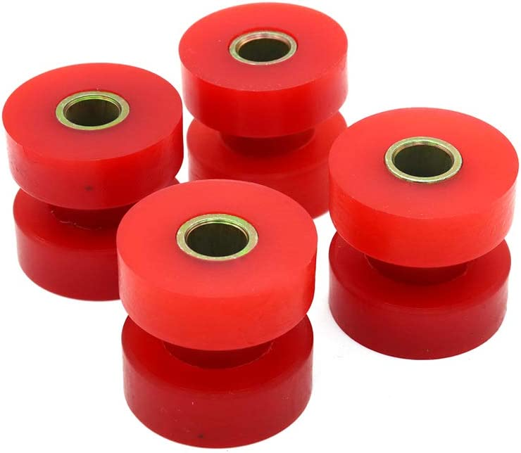 4 Pack Energy Suspension 90.9053R Exhaust Bushing Kit Set Rubber Muffler Mounts Accessories Red For Peterbilt 357 375 377 379 385