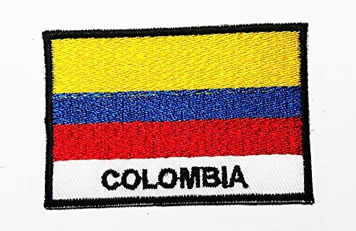 (National Flag Colombia South America Logo Patch Embroidered Sew Iron On Patches Badge Bags Hat Jeans Shoes T-Shirt Applique)