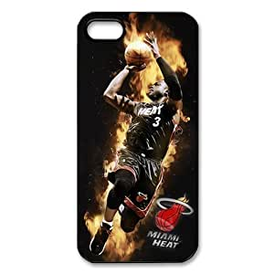 Miami Heat Star Dwyane Wade Cell Phone Protector for iPhone 5S Plastic and TPU (Laser Technology)