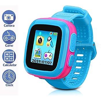 LTAIN Kids Game Smartwatch Digital Smart Watches Photo Sticker Camera Mini Games Alarm Clock Timer Health Monitor Pedometer Birthday Gifts for Boys ...