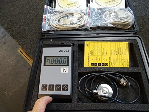 AST GmbH Force Load Cell with AE702 Digital Readout & Software & Cables & Case from AST Computer