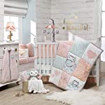 Lambs-Ivy-Sweet-Owl-Dreams-Pink-Chevron-4-Piece-Baby-Crib-Bumper-Pads