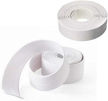 Bath /& Kitchen Caulk Tape Sealant Strip,Self Adhesive Waterproof//Mildewproof//Cockroach Prevention Tape