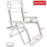 GOLDSUN Oversize XL Padded Zero Gravity Lounge