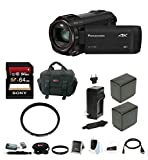 Panasonic HC-VX981K 4K Ultra HD Camcorder with Sony Memory Card & Focus Accessory Bundle (64GB Premium Kit)