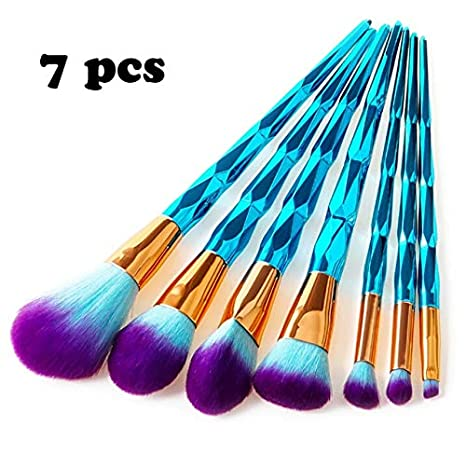 c97a088261c1 Amazon.com: Laliva 7/10pcs Unicorn Thread Makeup Brushes ...