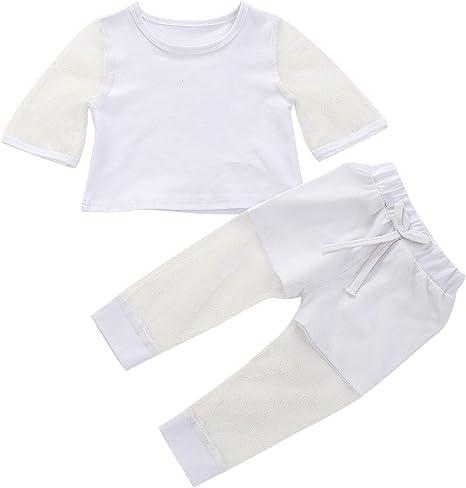 Haokaini 1-5 Años Niños Niña Verano Hilo Traje Moda Traje Camisa de Manga Larga + Pantalones: Amazon.es: Deportes y aire libre