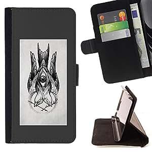 - Queen Pattern FOR Samsung Galaxy S5 V SM-G900 /La identificaci????n del cr????dito ranuras para tarjetas tir????n de la caja Cartera de cuero cubie - sketch grey drawing ink pen