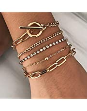 Daughter Gifts from Mom Gold Bracelet Set Layered Wrap Bracelets for Women Cuff Adjustable Bracelet for Mom Her Teen Girls Choker Jewelry Mothers Day Christmas Birthday Gift