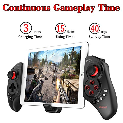 Wireless iOS Android Game Controller for PUBG Fotnite, Megadream Key  Mapping Gamepad Joystick for iPhone, iPad, Samsung, HTC, Google Pixel and  More,