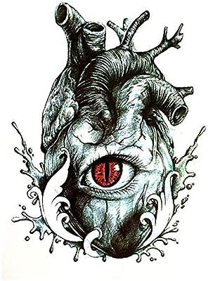 ruofengpuzi Impermeable Tatuaje del Ojo del Diablo Pegatina De ...