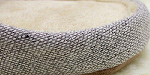 Bronze Times(TM) Chanclas de Casa Zapatilla Interior Espuma de Menmoria Lona Coral Unisex Gris