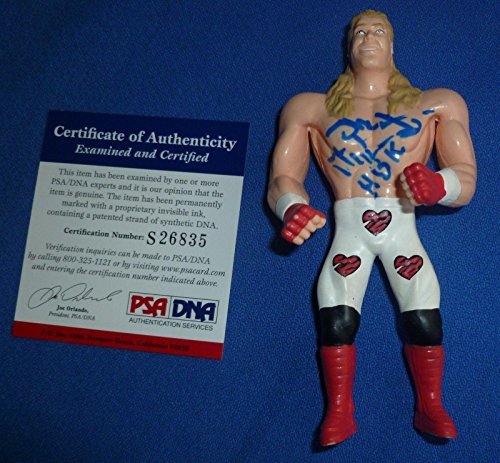 Shawn Michaels Signed Loose WWF WWE 1996 Bend-Ems Action Figure COA Toy - PSA/DNA Certified - Autographed Wrestling Cards