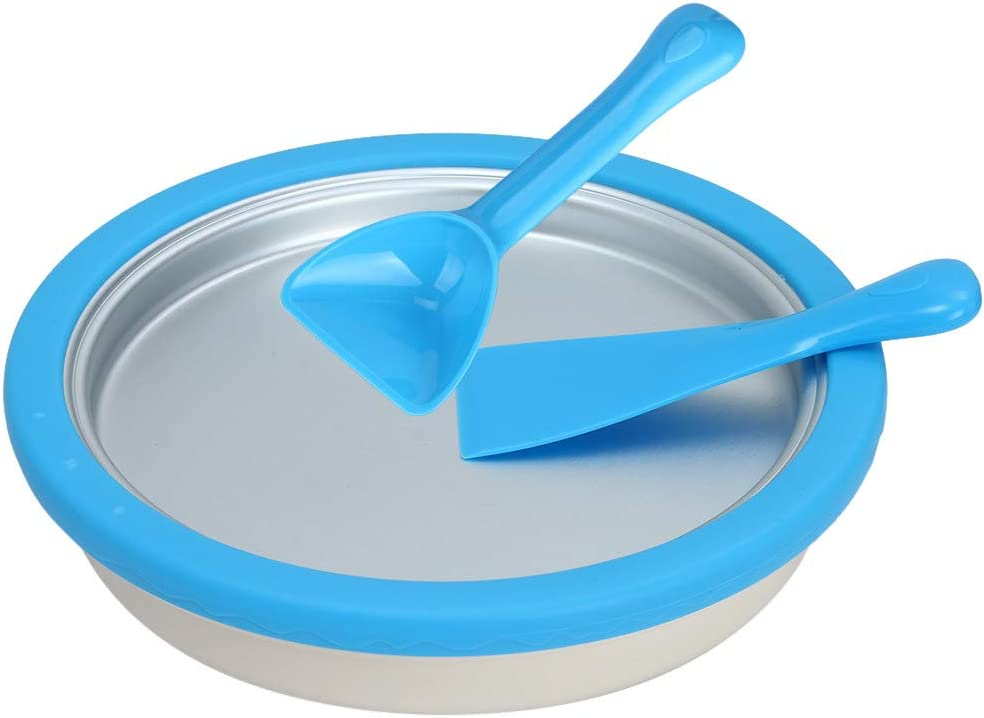 INiubi Easy to use Children's Ice Cream Machine Instant Ice Cream Maker Yogurt Frozen Pan Ice Roll Time Pan (Blue)