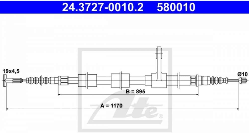 ATE 24372700102 C/âble de frein