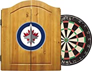 NHL Unisex NHL Team Dartboard Cabinet Set