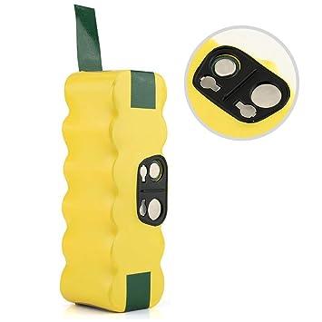 JQS® Roomba Reemplazo Batería para iRobot Roomba 500 600 700 800 Series 880 510 520 530 531 532 533 535 540 R3 Series y Scooba 450 Robot Aspirador ...
