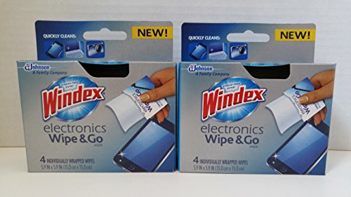 Windex Electronics (Windex Electronics Wipes 4 Count Individually Wrapped (Pack of 2))